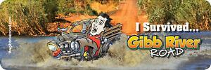 I Survived Gibb River Road Bumper Sticker version 2
