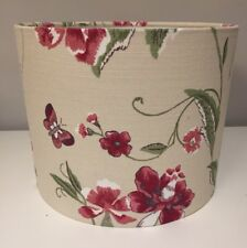 Handmade Lampshade In Laura Ashley summer Palace Cranberry, 25cm