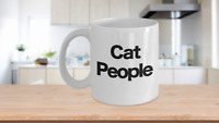 Funny Cat Mug White Coffee Cup Gift for Mom Dad Owner Lover People Person Lady