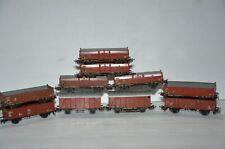 Märklin rame 10 wagons,wagon couvert + wagon tombereau