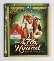 The Fox and the Hound 2 Movie *Slipcover ONLY* for Blu-ray WALT DISNEY EMBOSSED