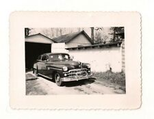 Vintage Black & White 1950's Photograph of Car
