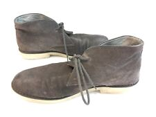 Vintage Express Genuine Suede Soft Leather Gray Chukka Ankle Boot Lace Up Men 10