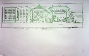 The Simpsons Production SIGNED CHRIS BOLDEN Animation Hand Drawn CHINA TOWN