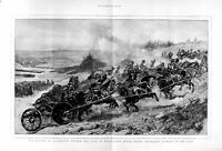 Old Antique Print 1874 Aldershot Czar Russia Royal Horse Artillery War 19th