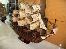 schönes Schiffsmodell San Felipe Segelschiff Holzmodell Handarbeit aufbaufertig