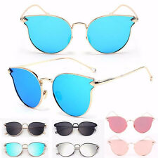 Blue.Women's Gold Retro Sunglasses Classic Oversized Vintage Fashion Shades
