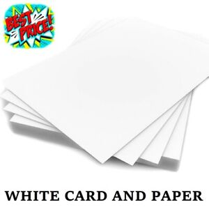 A6 A5 A4 A3 A2 WHITE CARD MAKING THICK PAPER COPIER PRINTER SHEETS 300GSM CRAFTS
