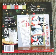 SCRAPBOOK TRENDS MAGAZINE December 2008 NEW Simple Things, Christmas Mini Albums