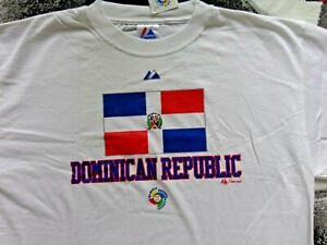 VINTAGE WBC / World Baseball Classic Dominican Republic T-SHIRT 1st Year (XL)