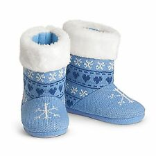 American Girl CL MY AG POLAR BEAR KNIT BOOTIES MEDIUM 3.5-5 for Girls Slippers