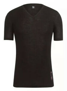 Rapha V-Neck Merino SS Base Layer Black BNWT Size M