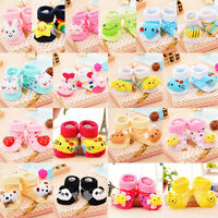 Warm Winter Cute Cartoon Newborn Baby Girl Boy Anti-Slip Socks Kids Shoes Boots