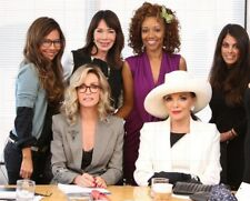 """JOAN COLLINS - DONNA MILLS - 10"""" x 8"""" Colour Photo QUEENS OF DRAMA 2015 #1087"""