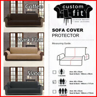 Couch / Sofa Cover Protector 1 2 3 Seater Latte Charcoal Slate Custom Fit New