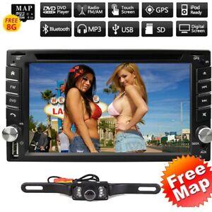 "6.2"" Double 2Din Car DVD CD Player GPS Navigation Radio Stereo Bluetooth +Camera"