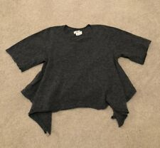 Comme Des Garcons Womens Wool Crop Top Shirt Gray Sz Small Made In Japan Play