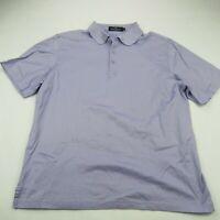 Bugatchi Mens Polo Shirt Purple Short Sleeve Large Cotton Casual Shirt