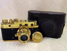 LEICA-II(D) LUFTWAFFE LUFTWAFFEN-EIGENTUM WWII VINTAGE RUSSIAN 35mm GOLD CAMERA