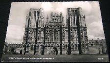 England West Front Well Cathedral Somerset - posted 1958
