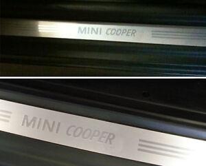 MINI NEW OEM R50 R52 R53 R56 LCI MINI COOPER DOOR ENTRY SILL STRIP PAIR 2 PCS