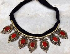 Afghan Kuchi Pendant Tribal Choker Necklace Gypsy Ethnic Boho Bohemian Jewelry
