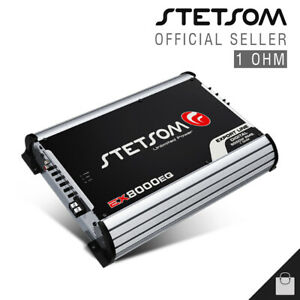 Stetsom EX 8000 1 Ohm Amplifier 8K EQ Amp HD Bass & Voice Car - 3 Day Delivery