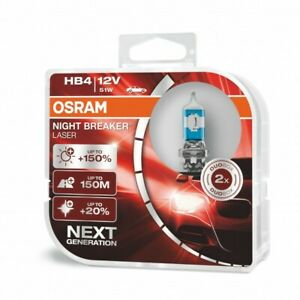 OSRAM Performance Bulbs - +150% More Light HB4 (9006) P22d - Halogen - NIGHT BRE