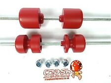 HUSQVARNA NUDA 900R CRASH MUSHROOM FRONT REAR AXLE SLIDERS BUNGS BOBBINS RED S4B