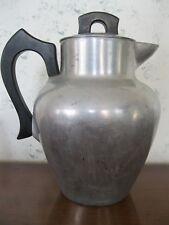 Club Aluminum Stove Perk 64oz Tea Coffee Pot Camp Kitchen Kettle Wood Handle