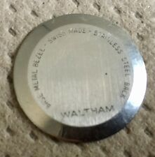 Vintage Authentic Stainlees Steel Back for Waltham Watch Case #564Y