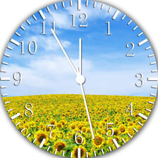 """Sun Flowers wall Clock 10"""" will be nice Gift and Room wall Decor Z158"""