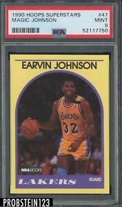1990 Hoops Superstars #47 Magic Johnson Los Angeles Lakers HOF PSA 9 MINT