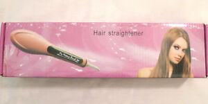 NEW Hair Straightening Electric Hot Brush Quick Heating Iron