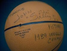 "JOHN ""SPIDER"" SALLEY Autographed Basketball~ 4x NBA Champion Detroit Pistons #22"