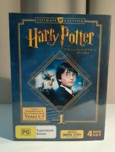 HARRY  POTTER  & THE PHILOSOPHERS STONE YEAR 1 ULTIMATE EDITION 4 DISCS SEALED!