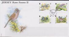 GB - JERSEY 2004 WWF/Jersey Rare Fauna #2/Wildlife SG 1158-1161 FDC BIRDS LIZARD