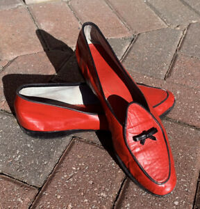 Red & Black Belgian Shoes Loafers Size 7.5 N