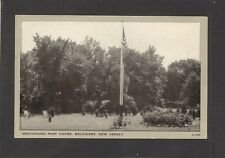 Postcard: Greyhound Post House - Belvidere, New Jersey - Flagpole - Unused