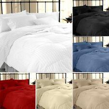Hachette 3pc 200tc Plain White/double Size 100 Egyptian Cotton Duvet Cover Bedd