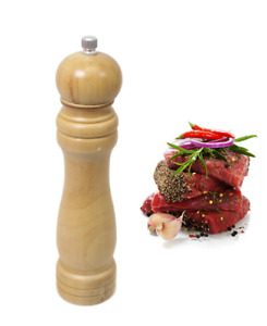 Refillable Wooden Salt and Pepper Mill Spice Herb Grinder Cafe UK Stock