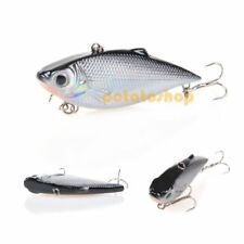 Fishing Hard Crankbait Rap Ripping Sinking Lure Rattle Flat Side Silver Lipless