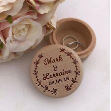 Personalised Ring Box Wooden Wedding Bride & Groom Date - Proposal Keepsake