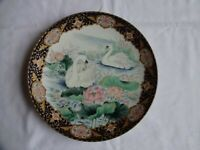 Vintage Shudehill collector plate decorated with beautiful Swans Diameter 21 cm