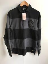 Nike Sportswear Brazil Football Men's Ls Rugby Shirt - Medium - Black/Grey - New