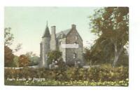 Fowlis Castle, tower house, near Dundee - old postcard