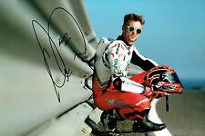 Leon CAMIER SIGNED Autograph 12x8 Portrait Photo MV Agusta WSB Rider AFTAL COA