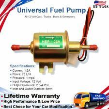 Electric Fuel Pump Gas Diesel Inline Low Pressure 12V HEP02A HEP-02A  3-6 PSI US