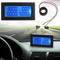 6in1 AC60-500V 100A Blau Rücklicht LCD Digital Multifunktional Clock Panel Meter