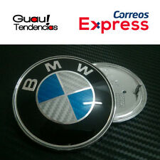 Emblema Logo BMW Fibra Carbono Capo Maletero 82mm Azul Blanco Emblem Hood Trunk